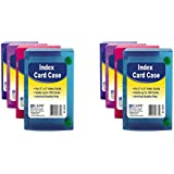C-LINE Polypropylene Index Card Case for 100 3 x 5 Inch Cards, Assorted (CLI58335), 2 Packs sold as 2 packs of 1 each assorted colors
