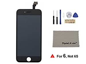 IPhone 6 (4.7 inch) LCD Touch Screen Digitizer Frame Assembly Full Set Replacement with Tools (Black)