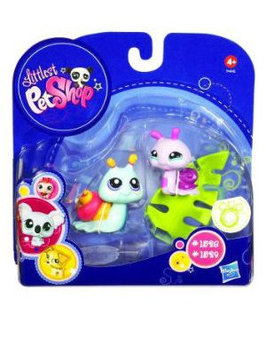 Buy Low Price Hasbro Littlest Pet Shop 2010 Assortment B Series 4 Collectible Figure Pink Blue Snails (B003TU4QP8)