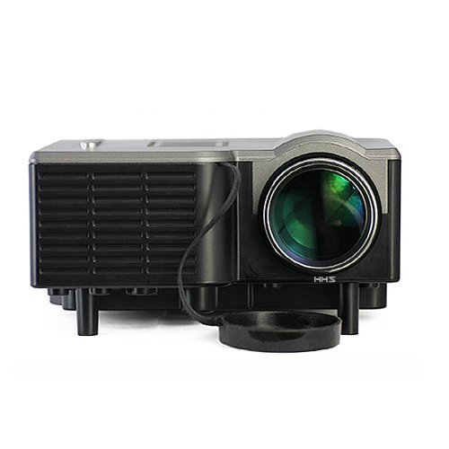 Aometech Mini Multimedia Hd Lcd Image System Home Led Digital Projector 60 Cinema Theater, Pc Laptop Vga Input Usb Uc28(Sd / Usb / Av / Vga /Hdmi Port) (Black) Color: Black Size: Home Projector Pc, Personal Computer