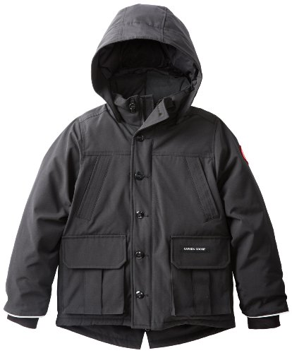 Canada Goose Boy's Vernon Parka, Black, Medium (Canada Goose For Boys compare prices)