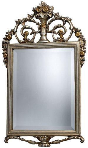 Sterling DM1926 Stewart Polyurethane Decorative Mirror, Antique Silver with Gold