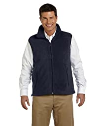 Harriton 8 oz. Fleece Vest-XL (Navy)
