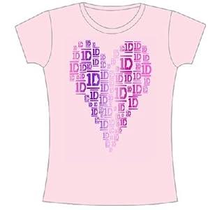 One Direction Logo Hearts Juniors Babydoll T-shirt
