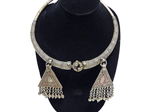 Tribal Neck Jewelry - Handcrafted Necklace Indian Gypsy Belly Dancing Necklet