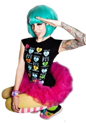 L-email 30cm/11.81inch Short Lady Gaga Look Cosplay Bob Wig Teal Green Ml162