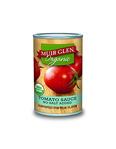 Muir Glen Organic Tomato Sauce, No Salt Added, 15-Ounce Cans (Pack of 12) (Sugar Free Organic Pasta Sauce compare prices)