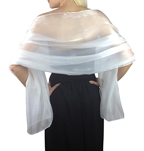 Atemberaubende-Silky-Iridescent-Hochzeit-Abschlussball-Brautjungfern-Wraps-Stola-Schal-Pashmina-24-Farben