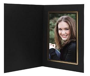 Black/Gold Cardboard Photo Folder 4x6 - Pack of 100