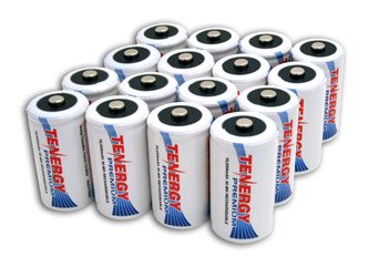 16 pcs of Tenergy Premium D Size 10,000mAh High Capacity Hig