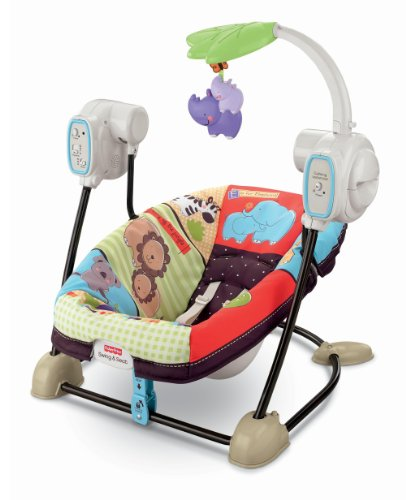 Fisher-Price SpaceSaver Swing and Seat, Luv U Zoo