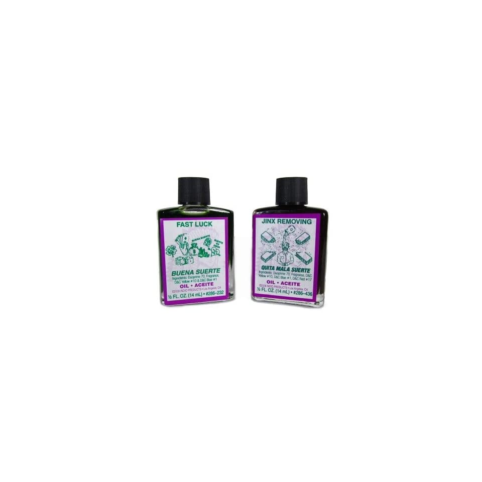 Ritual Oils for Jinx Removing and Fast Luck, 1/2 Fl Oz Each on PopScreen