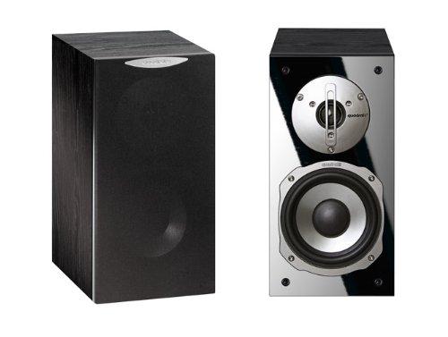Quadral ARGENTUM 320 2-Wege Bassreflex-Regallautsprecher Paar (60/90 Watt) schwarz