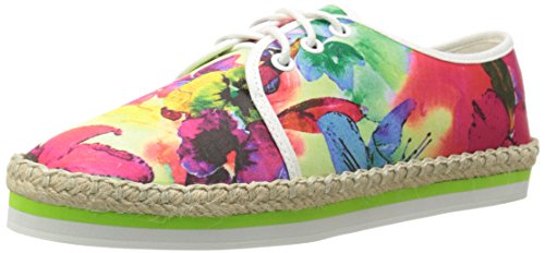 pictures of Luichiny Women's Easy Going Oxford, Lime Floral, 8 M US