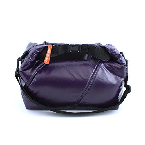 Goodbyn Roll Top Insulated Lunch Bag, Dark Purple - 1