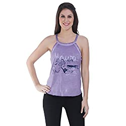 Meish Purple Printed Top for Women