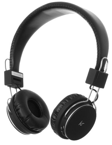 Kitsound Manhattan Bluetooth Over-Ear Headphones With Mic Compatible With Ipad 2, 3, 4, Mini, Ipod Touch, Iphone 3G, 3Gs, 4, 4S And 5 - Black