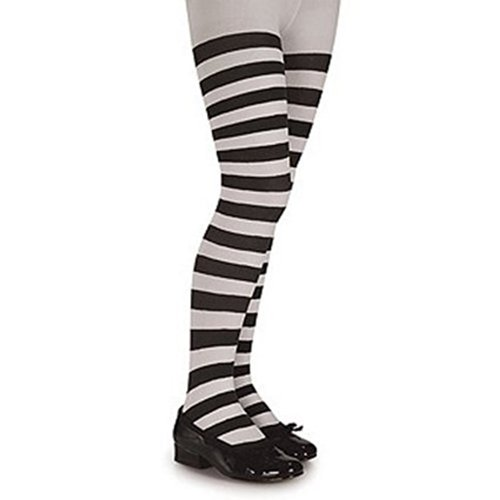 Black White Stripe Tights 4-6 Years (Kids Black And White Striped Tights)