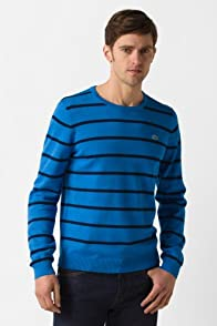 Heathered Chine Crewneck Stripe