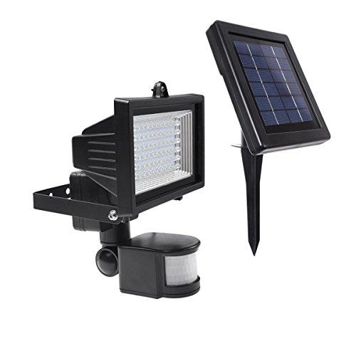 Le Solar Lights, Led Motion Sensor Light, Waterproof, High Output 60 Led, Solar Security Light, Wall Lights, Solar Rechargeable Floodlight, Solar Pir Light