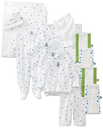 Noa Lily Baby-Boys Newborn Turtle Themed 11 Piece Gift Basket Set, Blue, 6 Months