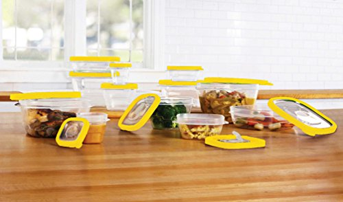 Plastic Food Storage Containers / Lunch Boxes With Microwave Vent Lids - 24 Piece Set