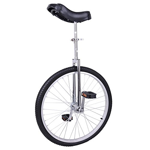 Fantasycart-24-Unicycle-Cycling-in-Out-Door-Chrome-Colored-with-Skidproof-Tire-Thanksgiving-Christmas