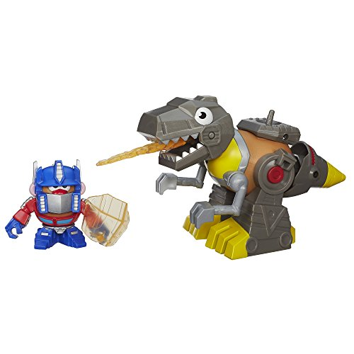 Playskool Mr. Potato Head Transformers Mixable Mashable Heroes as Optimus Prime and Grimlock Figures, 2-Inch - 1