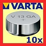 """10x VARTA V13GA Knopfzelle LR44 AG13 13GA V76PX SR44von """"Varta"""""""