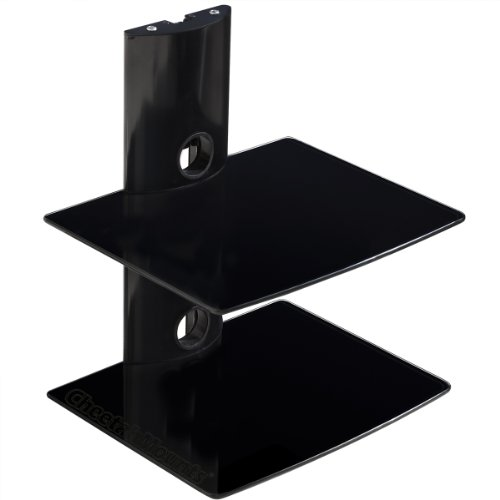 Cheetah Mounts AS2B 2 Shelf Wall Mount Bracket for LCD, LED and Plasma TV with Cable Management System