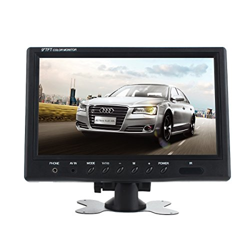 ATian 9 inch TFT LCD Color 2 Video Input Car Rear View Monitor DVD VCR Monitor