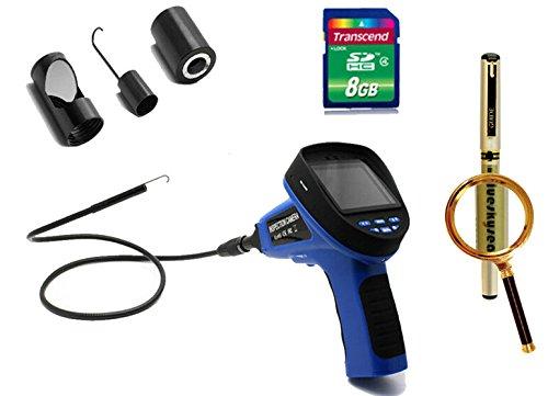 "Blueskysea Free Gift Gel Pen + 3.5"" 8.5Mm Inspection Endoscope Borescope Camera Dvr+Mirror/Hook/Magnet+8Gb Sd"