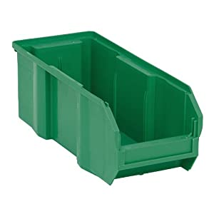 Quantum QUS233 Plastic Storage Stacking Ultra Bin, 13-Inch by 5-Inch by 5-Inch, Green, Case of 12