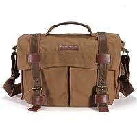 BBK-4 Canvas DSLR Camera Bag Shoulder Messenger Bag For Sony Canon Nikon Pentax by MECO Co.,LTD