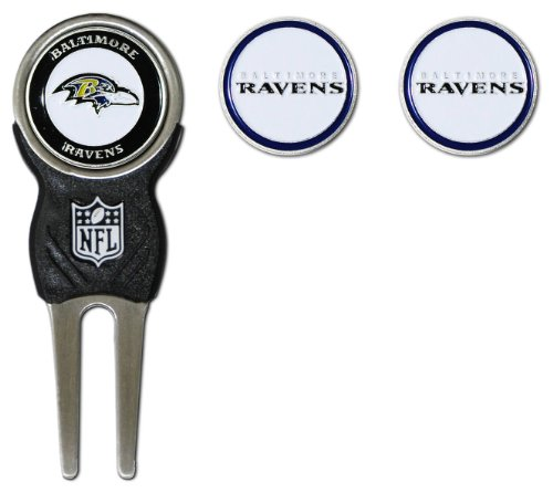 nfl-baltimore-ravens-signature-divot-tool-and-2-extra-markers