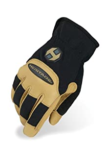 Heritage Stable Work Glove, Black/Tan, Size 9
