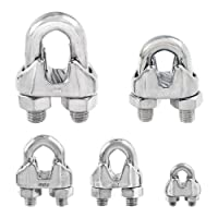 Stainless Steel Commercial Wire Rope Clip Cable Clamp - Choose from 5 Sizes - Type 316 SS by Safeland