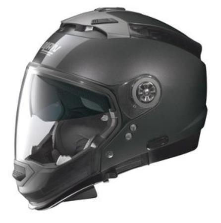 Nolan N44 Trilogy Solid Helmet (Black Graphite, XX-Large)