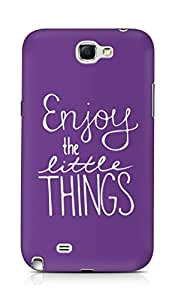 AMEZ enjoy the little things Back Cover For Samsung Galaxy Note 2 N7100