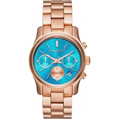 Michael Kors MK6164 38mm Rose Gold Steel Bracelet & Case Mineral Women's Watch