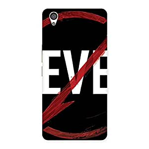 Cute Never Flash Multicolor Back Case Cover for OnePlus X