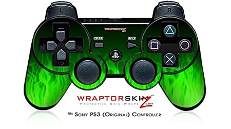 Sony PS3 Controller Skin - Fire Green