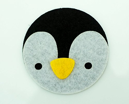 Smile Penguin Applique Embroidered Sew Iron On Patch