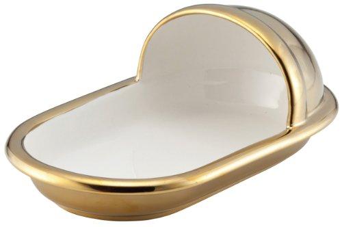 【おもしろ食器シリーズ】 便器のカタチのカレー皿 和式 プレミアムゴールド SAN2250