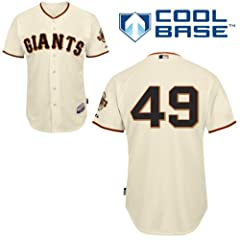 Javier Lopez San Francisco Giants Home Authentic Cool Base Jersey by Majestic by Majestic
