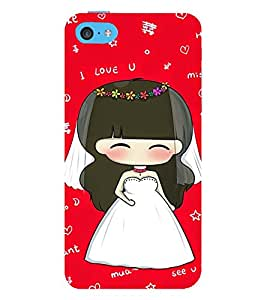 Vizagbeats Bride Back Case Cover for Apple iPhone 5C