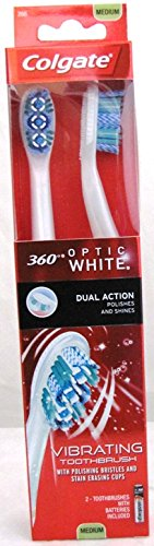 Colgate 360 Optic White Sonic Power Toothbrush, Full Head Me
