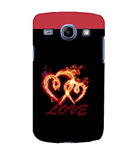 printtech Love Fire Heart Back Case Cover for Samsung Galaxy J7 / Samsung Galaxy J7 J700F (2015 EDITION)
