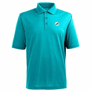 Miami Dolphins Pique Xtra Lite Polo Shirt (Alternate Color) by Antigua