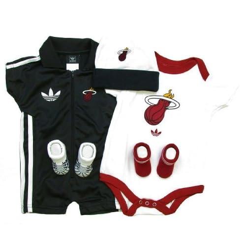 Amazon.com: Miami Heat Adidas 5 pc Box Newborn Set Creeper Tracksuit